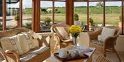 An image of the conservatory in Hind's Cottage at Field House Farm Cottages in East Yorkshire.