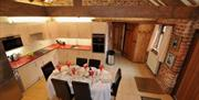 An image of the kitchen in Ostler's Corner at Field House Farm Cottages in East Yorkshire.