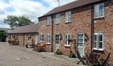 An external view of Rockville Farm Cottages in East Yorkshire.