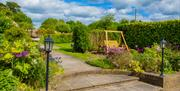 Self catering garden area at Wold Cottage, East Yorkshire