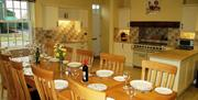 The large country kitchen dining area at Foremans House in East Yorkshire.
