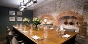 A large private dining table at The Beverley Arms in East Yorkshire.