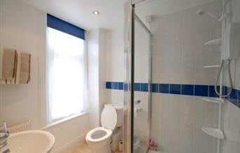 The bathroom and shower at The Swallow Hotel in East Yorkshire.