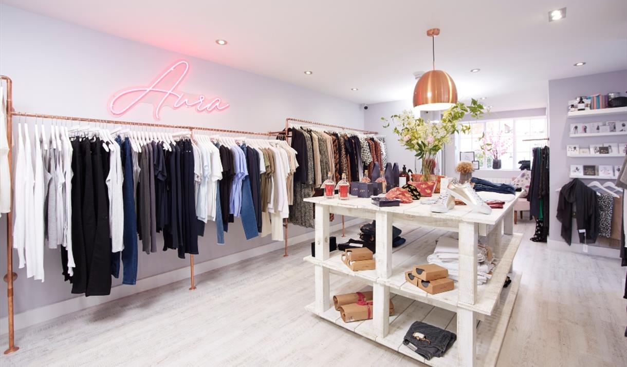 Aura Boutique interior, Beverley, East Yorkshire.