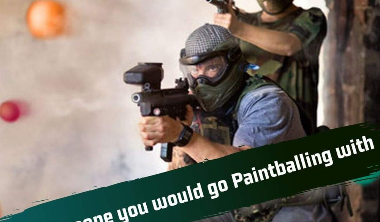 A poster advertising Hull Paintball in East Yorkshire.
