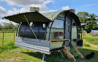 A glamping pod at Goxhill Meadows in East Yorkshire.