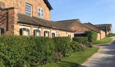The side of West End Farm Cottages, Driffield, East Yorkshire.