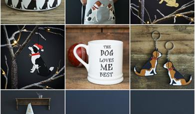Dog-themed gifts from Distinctive Pets, in East Yorkshire