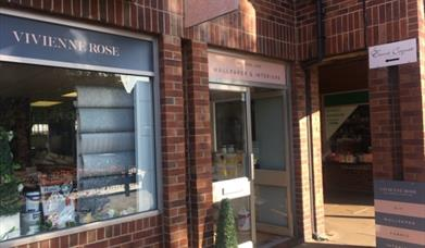 The outside of Vivienne Rose Interiors shop, in East Yorkshire