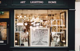 Design Orchard shop window, in Beverley, East Yorkshire
