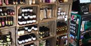 Shelves & products for sale at The Mile Farm Shop, Pocklington, East Yorkshire