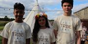 Some of our tribe at Wild Harvest School, in East Yorkshire