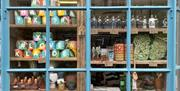 The shop window at Klaede Projects, Bridlington, East Yorkshire.