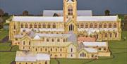 A model of the original Priory Church, Bridlington in East Yorkshire.