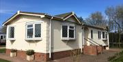 A chalet at Hornsea Leisure Park in East Yorkshire.