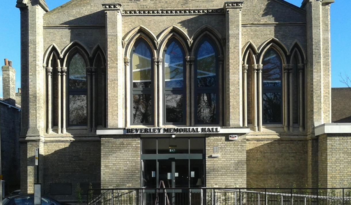The exterior of Beverley Memorial Hall, in East Yorkshire
