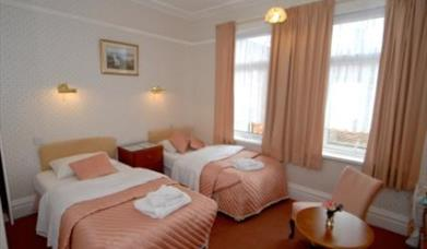 A twin bedroom at The Brockton in East Yorkshire.