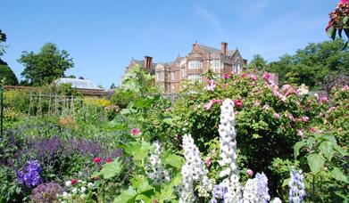 The gardens at Burton Agnes Hall, in East Yorkshire