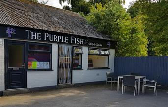 The shop front of the Purple Fish, in East Yorkshire