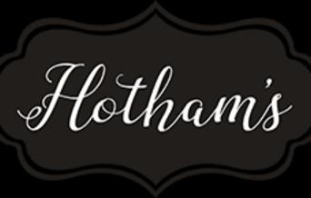 Hotham's Gin School & Distillery black and white logo, in East Yorkshire