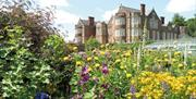 One of the flower beds in front of Burton Agnes Hall in East Yorkshire.
