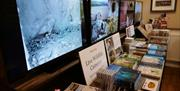 A row of tv screens showing the live wildlife cameras at Robert Fuller Gallery, in East Yorkshire