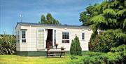A static caravan at Barmston Farm Holiday Park in East Yorkshire.