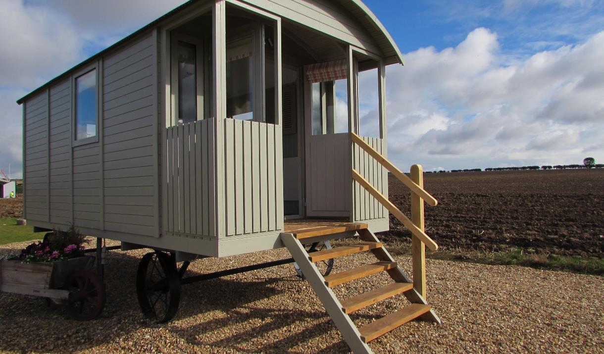 A hut at West Hale Gate Glamping.