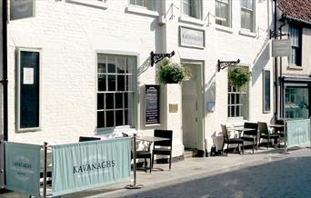 The exterior seating and frontage of Kavanaghs, in Beverley, East Yorkshire