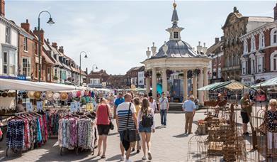 Saturday Market, in Beverley, East Yorkshire