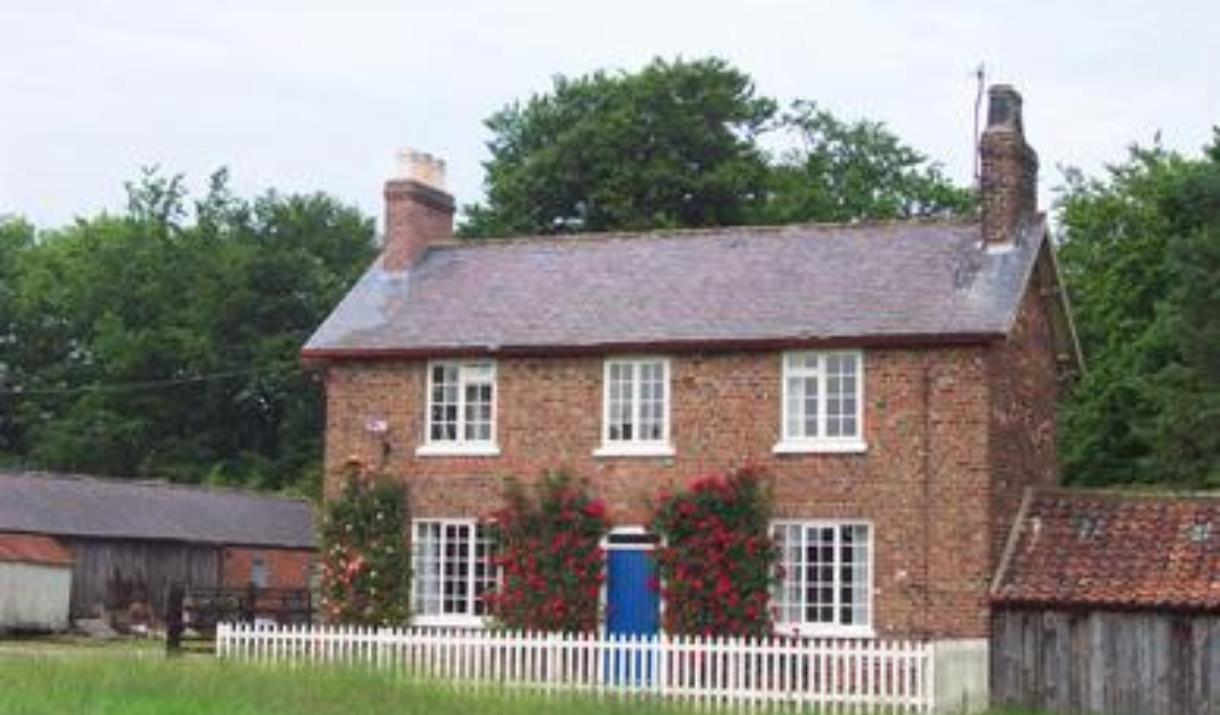 The exterior of Holme Wold Farm Cottage in East Yorkshire.