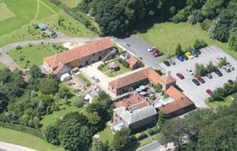 An ariel view of Wolds Village in East Yorkshire.