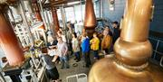 People on a tour at Spirit of Yorkshire Distillery in East Yorkshire.