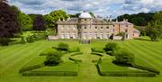 The vast garden and hall at Scampston Hall & Walled Garden in East Yorkshire.
