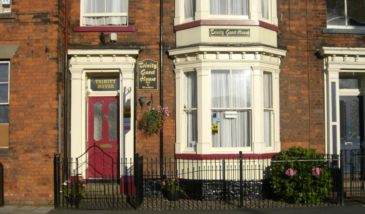 The entrance to Trinity Guest House in East Yorkshire.