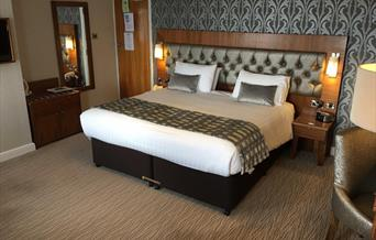 A view of a double room at The Expanse Hotel in East Yorkshire.