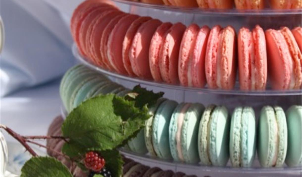 A stack of multi coloured Macaroons, East Yorkshire
