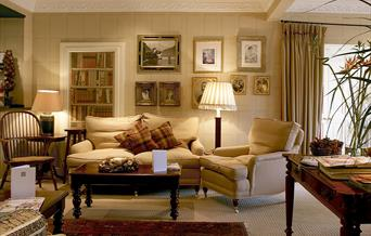 The lounge area at The Feversham Arms Hotel in East Yorkshire.