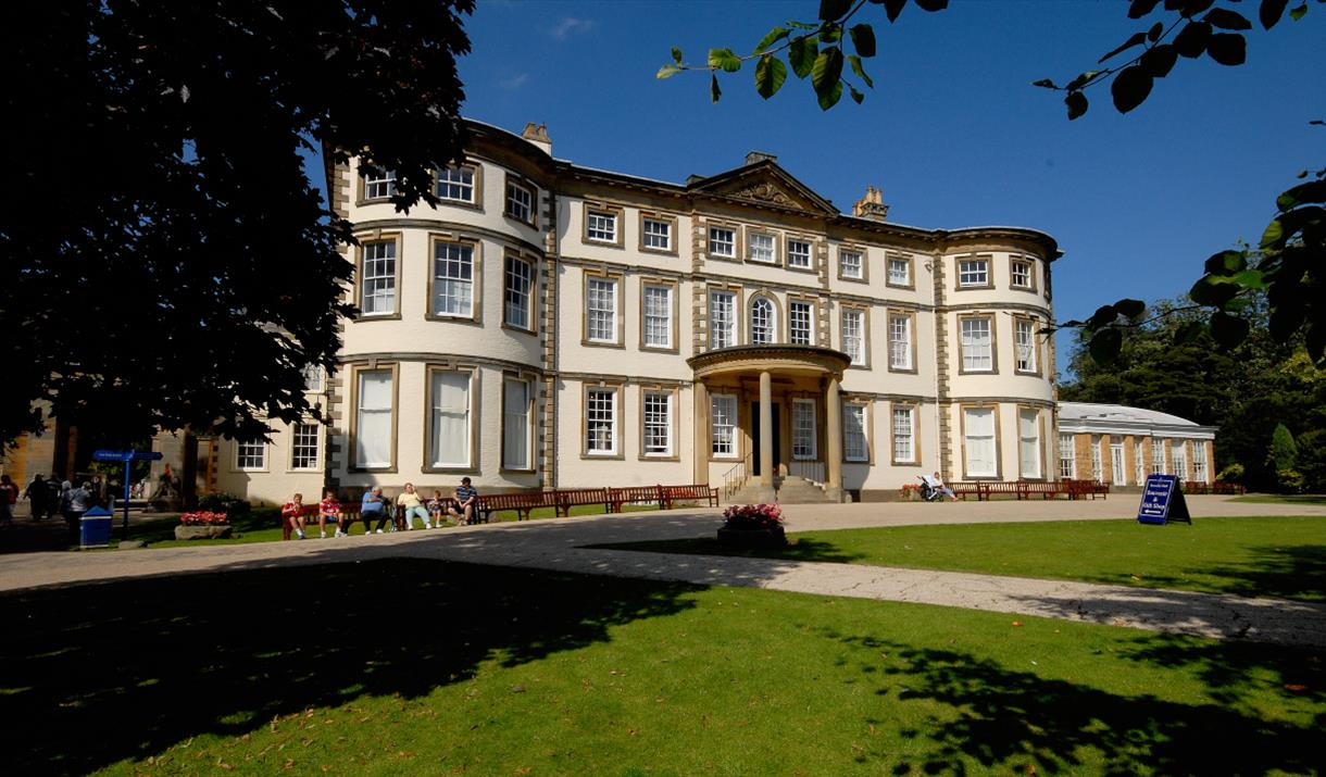 The gardens and frontage of Sewerby Hall and Gardens in East Yorkshire