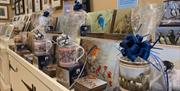 The gifts parcelled, mugs, coasters and prints at Robert Fuller Gallery, in East Yorkshire
