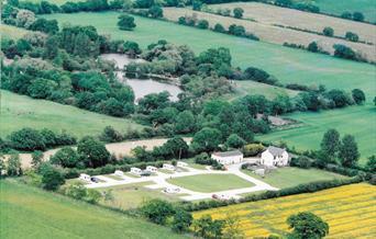 An aerial view of Brenda House Touring Caravan park in East Yorkshire.