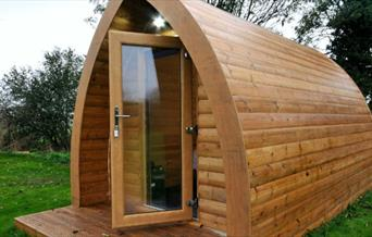 One of the  glamping pods at Wolds Glamping in East Yorkshire.