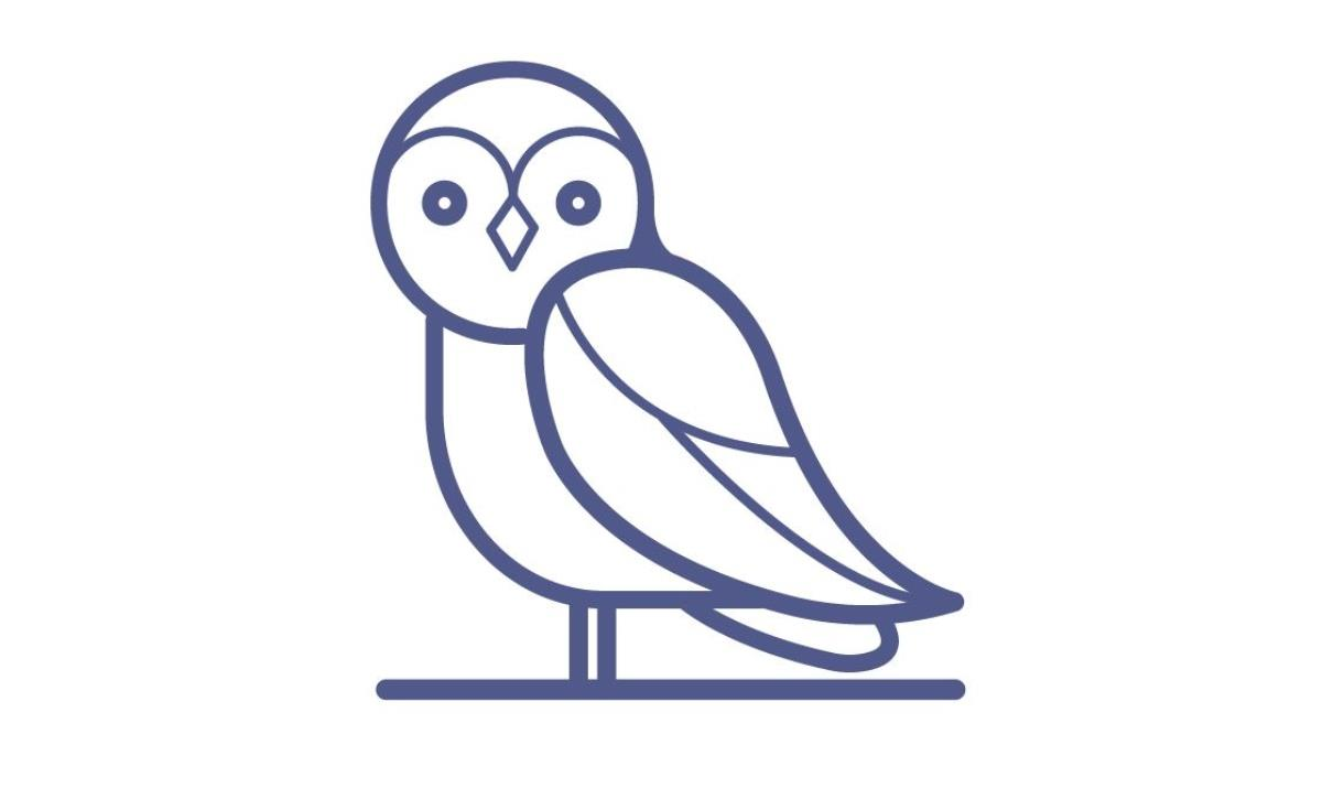 An image of an icon of an owl, representing places to visit  to see animals or wildlife