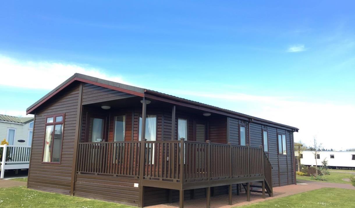 External image of Holiday lodge at Hornsea Leisure Park in East Yorkshire.