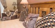 A double bed at the Blue Bell Inn, Weaverthorpe, East Yorkshire.
