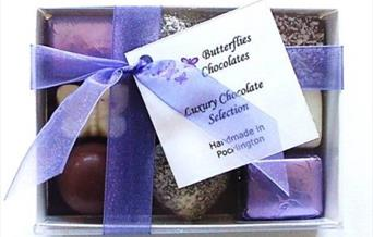 A box of chocolates from Butterflies Chocolates, East Yorkshire