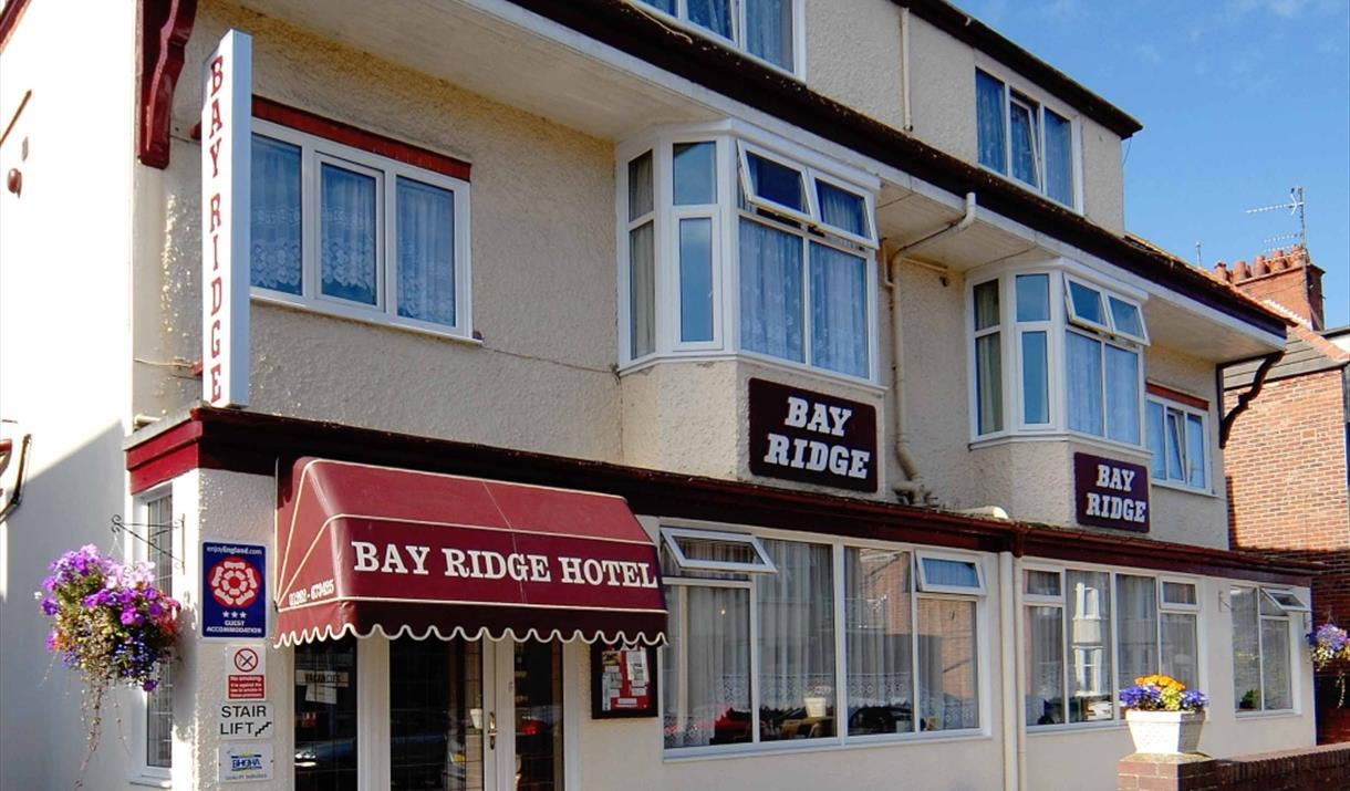 The exterior view of Bay Ridge Hotel in East Yorkshire.