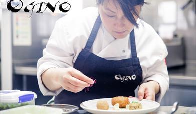 Food preparation at Ogino Japanese Restaurant, Beverley, East Yorkshire.