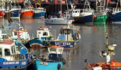 Fishing boats in Bridlington Harbour, East Yorkshire