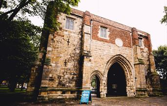 The exterior of Bayle Museum, Bridlington in East Yorkshire.
